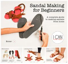 e805d7fd0c32 make your own sandals! How To Make Shoes