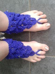 crocodile stitch barefoot sandals-free pattern