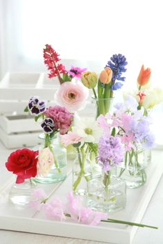Tiny floral arrangements