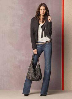 118861089d7cc LOFT by Ann Taylor 2011 Fall Collection  Designer Denim Jeans Fashion   Season Lookbooks