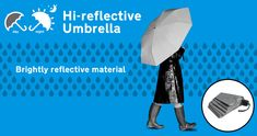 Hi-reflective Umbrella : Be bright - Be seen at night
