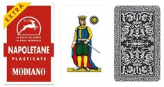 Napoletane 97/25 Modiano Regional Italian Playing Cards Plastic Coated  #Modiano