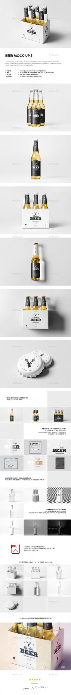Beer Mockup 5 — Photoshop PSD #four pack #transparent • Available here → https://graphicriver.net/item/beer-mockup-5/16150383?ref=pxcr