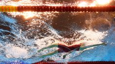 Canada's Dominique Bouchard competes during a women's 200-meter backstroke heat in the swimming competitions at the 2016 Summer Olympics in Rio de Janeiro, Brazil, Thursday, Aug. 11, 2016. (AP Photo/Lee Jin-man)