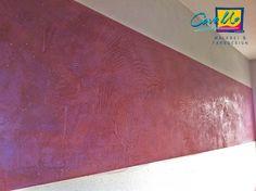 Ein Band als Wandgestaltung! Es müssen nicht immer ganze Wände sein, es sind auch Teilbereiche möglich!  #Wandgestaltung #Walldesign #Design #Lila #pink #livingroom #Wohnzimmer #schönerwohnen #wohnen #living #edelputz #stucco #pompeji #stuccopompeji #art #Mannheim #Heidelberg #Schwetzingen #Stuttgart #Maler #Cavallo