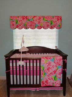 Lilly Pulitzer baby girl nursery