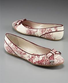 love these Dior toile ballet flats....The Silver Lining: Summer Toile