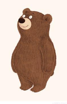 Simple Bear Art Print by Greg Abbott Elephant Illustration, Children's Book Illustration, Urso Bear, Bear Drawing, Bear Art, Cute Bears, Illustrations Posters, Decoupage, Character Design