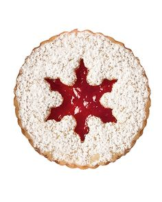 Pecan Linzer Cookies with Cherry Filling Valentine's Day Cookie Recipes | Martha Stewart Living - Crumbly, nutty cookies layered with sweet cherry jam and dusted with sugar make delectable valentines.