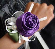 Bouquet de mariage, bracelet de demoiselle d'honneur, la mariée fleur du poignet, pourpre, main  tissé, dans  de  sur Aliexpress.com