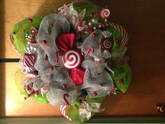 Christmas wreath deco mesh