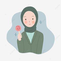 Cartoon Girl Images, Cute Cartoon Pictures, Girl Cartoon, Cartoon Art, Anime Girl Dress, Anime Art Girl, Cartoon Drawings, Cute Drawings, Islamic Cartoon