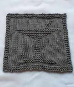 Bottoms Up Dishcloth Set - Knitting Patterns by Christine Olson