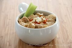 Slow Cooker Buffalo Chicken Chowder - bakedbyrachel.com -  I have cooked this 3x already!  Yummy!!!!!