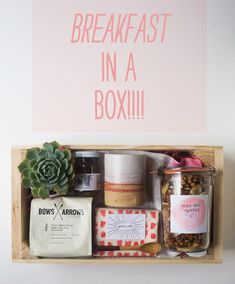 DIY Mothers Day Gift Ideas - Breakfast In A Box - Homemade Gifts for Moms - Crafts and Do It Yourself Home Decor, Accessories and Fashion To Make For Mom - Mothers Love Handmade Presents on Mother's Day - DIY Projects and Crafts by DIY JOY Food Gifts, Craft Gifts, Diy Gifts, Gift Hampers, Gift Baskets, Holiday Gifts, Christmas Gifts, Christmas Birthday, Diy Mothers Day Gifts