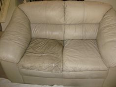 How To Clean Leather Couches Half Cleaned Couch Cleaning Furniture