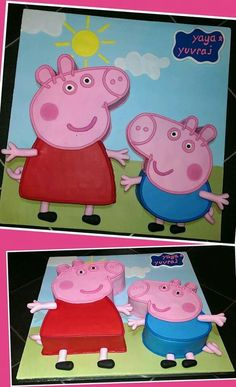 Peppa pig & George pig cake