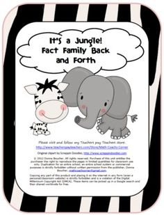 Kids will go WILD for this jungle-themed game!  As they move back and forth on the game board, they'll be practicing their fact families for combin...