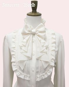 IW - Ribbon papillon blouse. Gorgeous to see a different style of bow, which drapes so well.