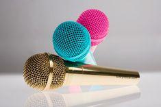 Kiwi and Pom Lucky Voice Party Box Microphones // Conéctalo a tu computadora, y voilà! karaoke en casa. #Gadgets
