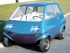Ford Berliner Concept, 1968, by Ghia. An experimental electric microcar prototype