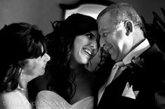 """Two pictures you probably won't want to miss out on are the parent shots: the bride with her parents and the groom with his. Candid shots are always great looking, but you can ask for posed if need be. Idea borrowed from """"The Everything Weddings on a Budget Book."""""""