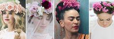 Novias con coronas inspiradas en Frida Kahlo