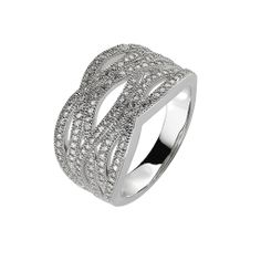 Oxette Silver 925 Ring with zircons - Available here http://www.oxette.gr/kosmimata/daktulidia/silver-ring-wint-cz-oxette-610l-1/     #oxette #OXETTEring #jewellery