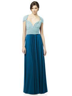 Ocean Blue + Canal Blue long combo #twist #dress #bridesmaiddress