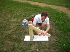 homemade trebuchet, you could build 1 just like it