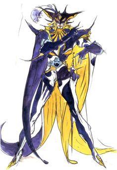 Final Fantasy V - Halicarnassus Concept Art - Yoshitaka Amano