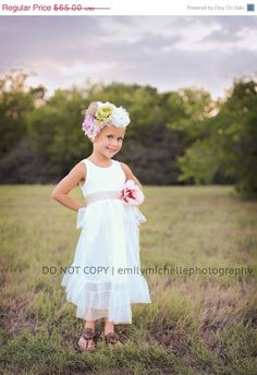 LIMITED TIME SAVE Toddler shabby chic tulle flower by chachalouise, $50.70
