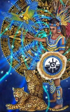 This Is Ixchel, Mayan Goddess Of Heavens & Birth And The Last Figure In Dresden Codex ~ Artist Unknown