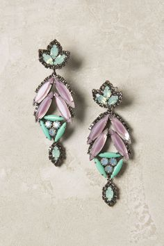 Leila Earrings. Swarovski crystal, brass, hematite and stainless steel. (via anthropologie!)
