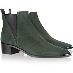 Acne Studios Jensen suede ankle boots (38.985 RUB) ❤ liked on Polyvore featuring shoes, boots, ankle booties, black ankle boots, suede bootie, short boots, black suede ankle booties and black suede bootie