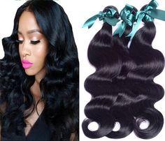 Brazilian virgin Hair body wave 3 Bundles