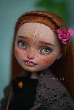 by Firexia´s dolls Custom Monster High Dolls, Monster High Repaint, Custom Dolls, Doll Head, Doll Face, Doll Eyes, Doll Painting, Creepy Dolls, Flower Fairies