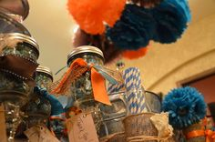 """Photo 1 of 27: Orange and Turquoise / Baby Shower/Sip & See """"Ashley Jolly's """"Things that POP!"""" """" 