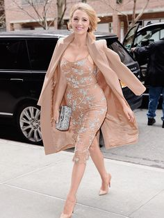Blake Lively arrives at Michael Kors Fashion Show during Fall 2016 New York Fashion Wee on February 17, 2016 in New York City.