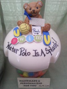 Personalized Water Polo Candy Jar by JUSTGIVEITANAME on Etsy