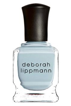 """Best fall nail colors: """"I have such a crush on Deborah Lippman's Blue Orchid nail lacquer. It's the perfect hazy shade of blue—a little more grown up than my old favorite, Hard Candy's Sky, but with the same cloudy, dreamy vibe. I think I'll wear it with my new Frame Denim jeans and vintage Luella blazer during Fashion Week shows—and it'll look so cute peeking out of my gold Miu Miu platform sandals during the after parties."""" -Faran Krentcil, special projects editor, $18; deborahlippmann.com"""