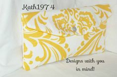 Yellow Clutch  Bridesmaid Clutch   Envelope Clutch  by Kath1974
