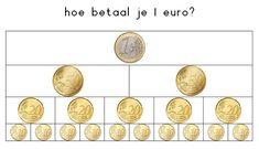 1 euro b Preschool Education, Teacher Education, School Teacher, Primary School, Elementary Schools, Co Teaching, Math Poster, Montessori Math, First Grade Math