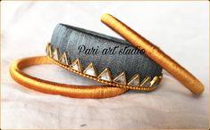 In this page i m sharing different stuffs like glass painting,fabric work, rakhi making, flowers. Rakhi Making, Silk Thread, Art Studios, Gold, Leather, Handmade, Jewelry, Hand Made, Jewlery