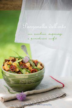 panzanella  with asparagus, cougettes and tomatoes confit©LauraAdani photography http://iocomesono-pippi.blogspot.it/2015/03/panzanella-dellorto-con-zucchini.html