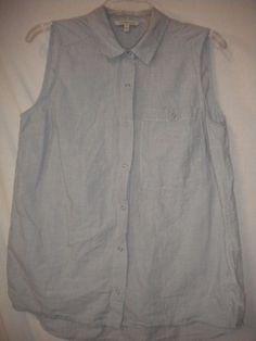 347af8f3c2cce1 Calvin Klein Jeans Medium Chambray Blue Sleeveless Women Camp Shirt Tank Top  #CalvinKleinJeans #Cami #Versatile