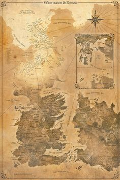 Game of Thrones Map - Westeros and Essos by FabledCreative on DeviantArt