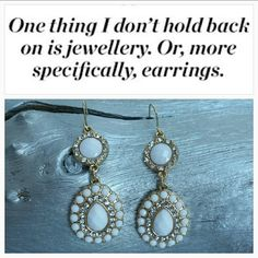 "HPLovely Earrings NOWT HOST PICK Lovely white dangling earrings. Silver and qhite Rhinestones cover these earrings on a gold metal background. Approx: 2.25"" long Hypo Allgerienc  Hook style earrings Jewelry Earrings"