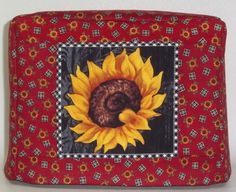 Sunflower Toaster Cover  2 Slice Toaster Cover by PatsysPatchwork, $18.00