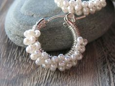 Sterling/wrapped in tiny pearls-----------perfect for your wedding